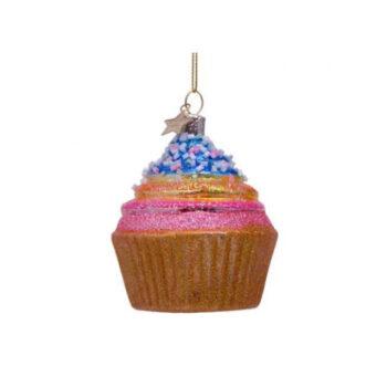 Productfoto kersthanger cupcake discodip